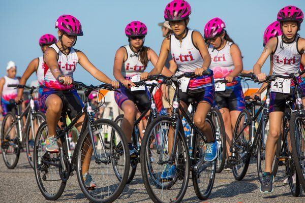 The Bnb Hamptons Youth Triathlon Took Place On Saturday, July 14, 2018 On Long Beach In Sag Harbor, New York. A Large Number Of Girls From I Tri, An Inclusive, Community Based Program That Fosters Self Respect, Personal Empowerment, Self Confidence, Posit